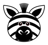 Cute Zebra Vector — Stock Vector