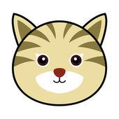 Söt katt vektor — Stockvektor