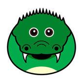 Cute Crocodile Vector — Stock Vector