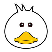 Cute Duck Vector — Stock Vector
