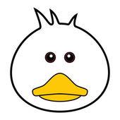 Cute Duck Vector — Stock Vector