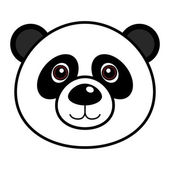 Cute Panda Vector — Stock Vector