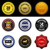 Warranty Guarantee Seal — Stock Vector