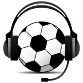 Football Soccer Podcast Vector — Stock Vector