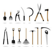 Set of Gardening Tools — Stock Vector
