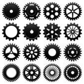 Vector máquina engranaje de la rueda dentada — Vector de stock