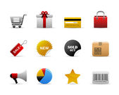 Ecommerce icons — Stock Vector
