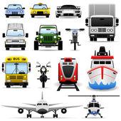 Transportation Vehicle — Stock Vector