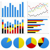 Bar Pie Graph Chart — Stock Vector