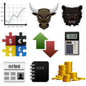 Stock Share Market Finance Money Icon — Stock Vector