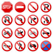 Road Sign Glossy Vector (Set 6 of 8) — Stock vektor