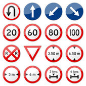 Road Sign Glossy Vector (Set 7 of 8) — Stock vektor