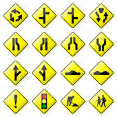 Road Sign Glossy Vector (Set 2 of 8) — Stock Vector