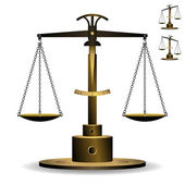 Scale of Justice — Stock Vector