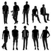 Man Men Male Fashion Shopping Model — Stock Vector