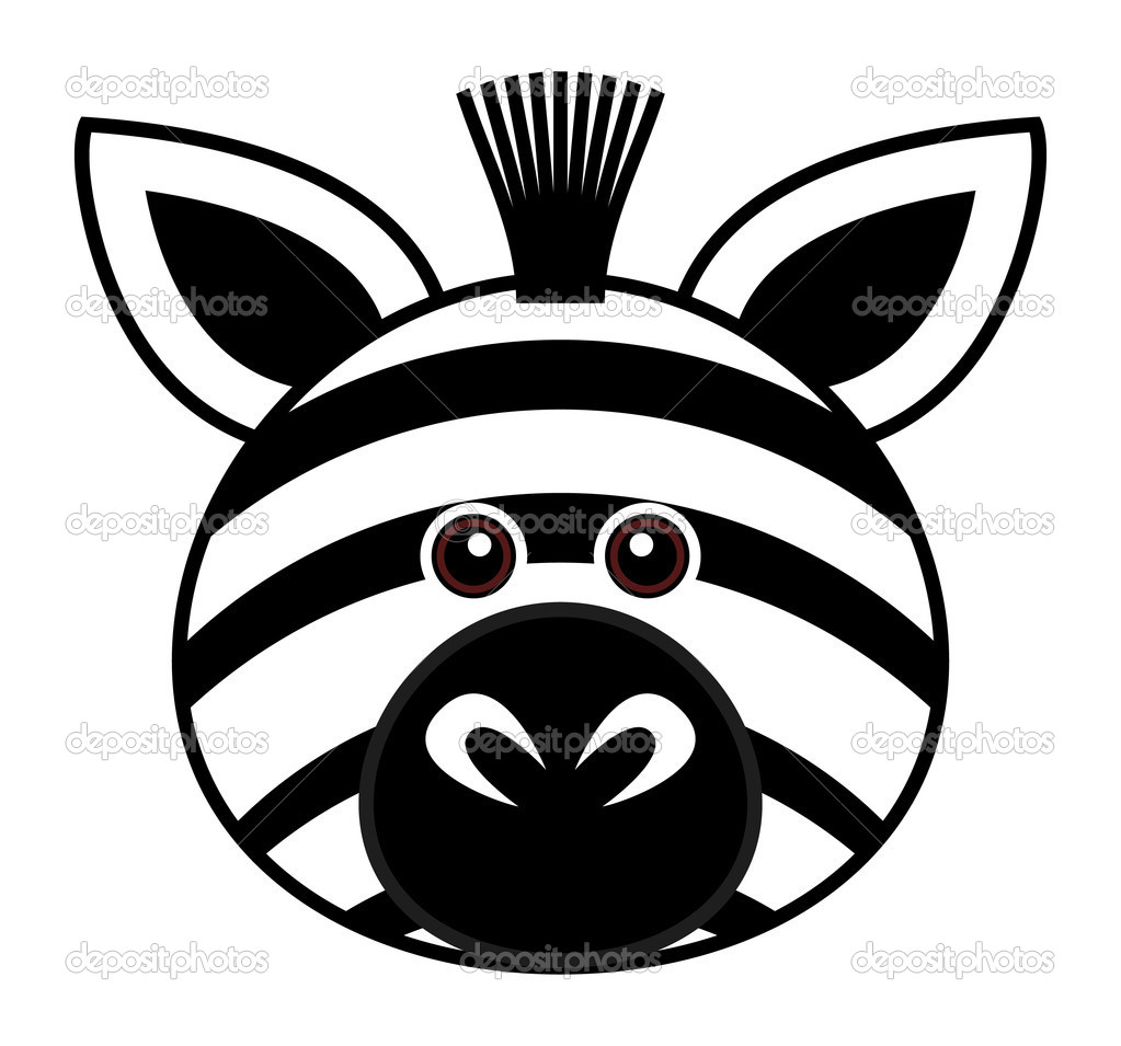Zebra face cartoon - photo#4