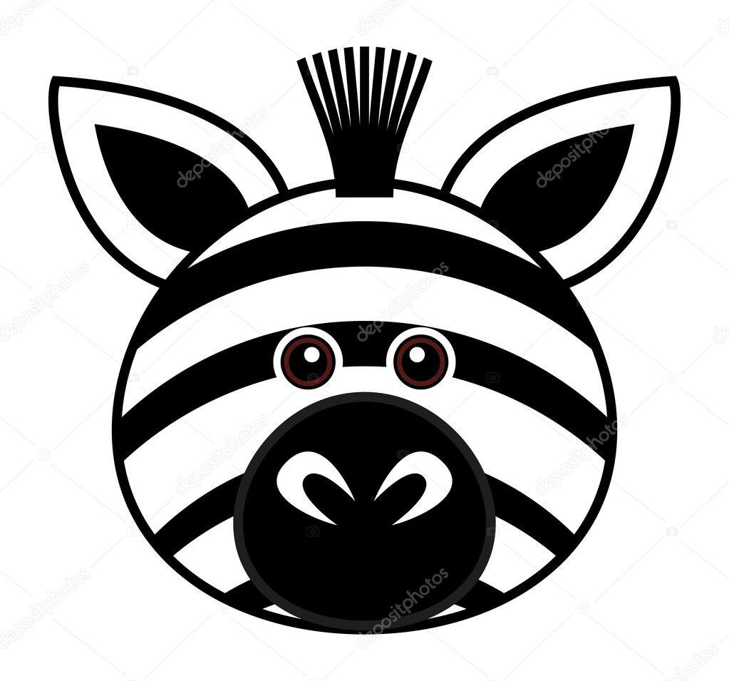Cute Zebra Vector Stock Vector 4559269