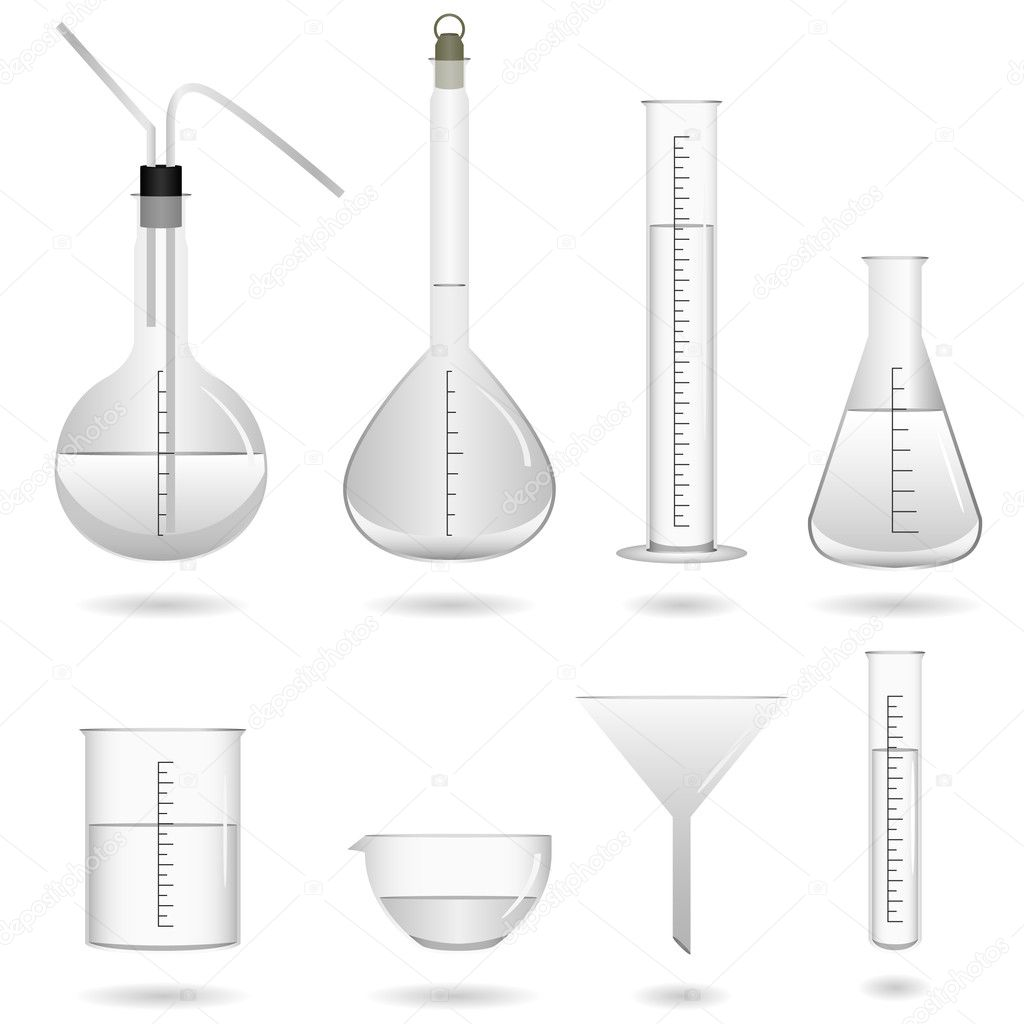 Science chemical lab equipment stock illustration