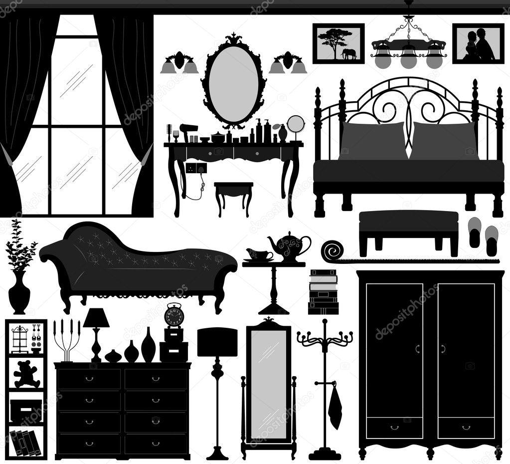 Черный дизайн спальни