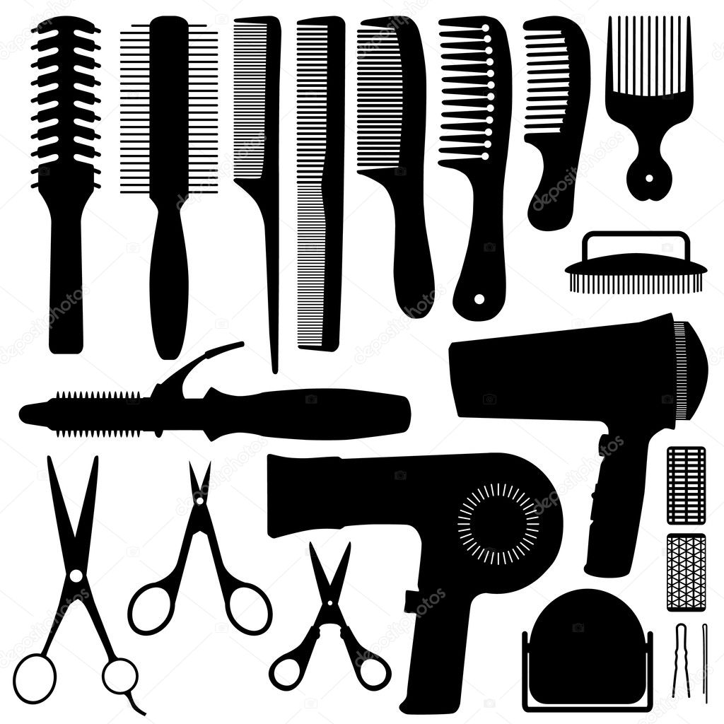 Hair Accessories Silhouette in Vector  Stockvectorbeeld #4559740