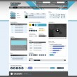 Web Design Element Template — Vettoriali Stock