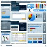 web デザイン要素テンプレート — ストックベクタ #4561107