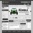 Web Design Element Template — Imagen vectorial