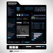 Web tasarım öğe şablonu — Stok Vektör