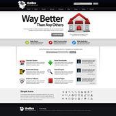 Web design element sjabloon — Stockvector