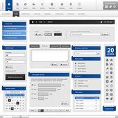 Web デザイン要素テンプレート — ストックベクタ