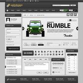 Modèle d'élément web design — Vecteur