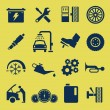 Auto Car Repair Service Icon Symbol - Imagen vectorial