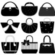 Cтоковый вектор: Female Bag Handbag Purse Fashion Woman