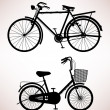 Old Bicycle Detail - Stock Vector
