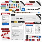 веб-дизайн шаблона элемента — Cтоковый вектор
