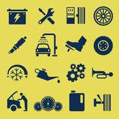 Symbole d'icône service réparation auto voiture — Vecteur