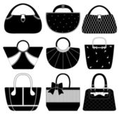 Female Bag Handbag Purse Fashion Woman — Stock Vector