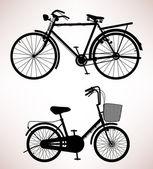 Détail de vélos anciens — Vecteur