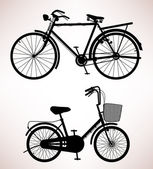 Detalhe de bicicleta antiga — Vetor de Stock