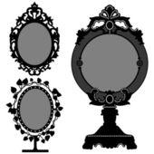Mirror Ornate Vintage Retro Princess — Stock Vector