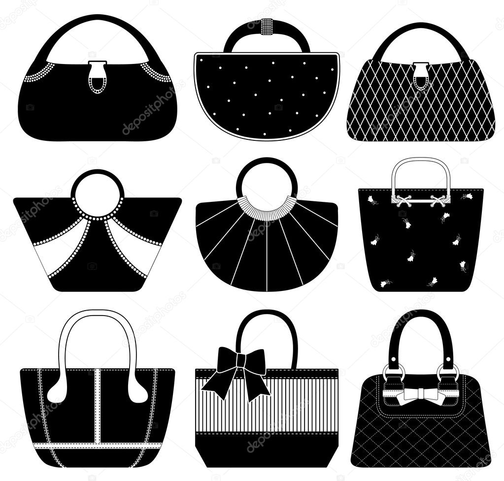 A set of handbags and purses — Stock Vector #5028074