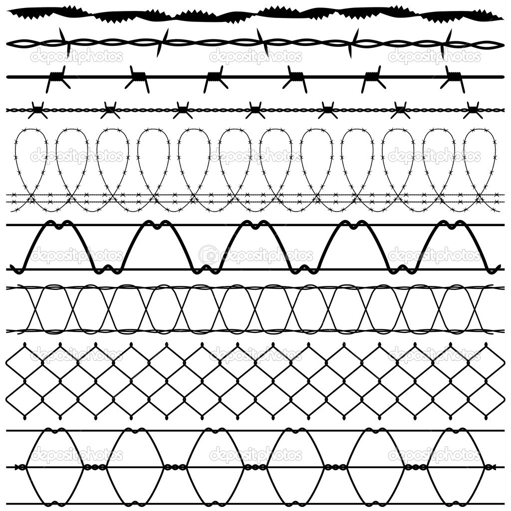 A set of fences design. — Stock Vector #5028091