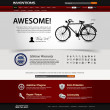 ストックベクタ: Web Design Website Element Template