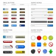 Web Design Button Element — Image vectorielle