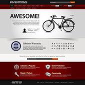 Modello di elemento di web design sito web — Vettoriale Stock