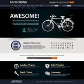 Web Design Website Element Template — Stok Vektör