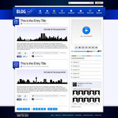 Web Design Website Element Template — Stock Vector