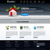 Szablon sieci web design stronie elementu — Wektor stockowy