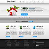 Web デザイン ウェブサイト要素テンプレート — ストックベクタ