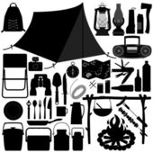 Camp Camping Picnic Recreational Tool — Vector de stock